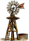 Wood Frame Windmill